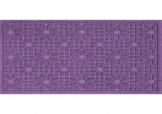 purple door mat